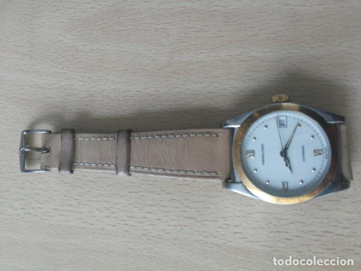 Relojes automáticos: ANTIGUO RELOJ HAMILTON AUTOMATICO BISEL ORO 18 K. FUNCIONANDO Nº SERIE 891 SWIS MADE - Foto 2 - 203440116