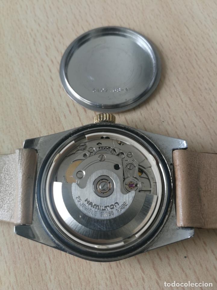 Relojes automáticos: ANTIGUO RELOJ HAMILTON AUTOMATICO BISEL ORO 18 K. FUNCIONANDO Nº SERIE 891 SWIS MADE - Foto 7 - 203440116