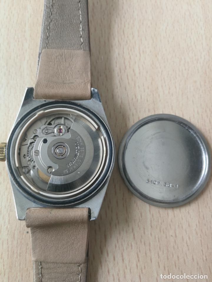 Relojes automáticos: ANTIGUO RELOJ HAMILTON AUTOMATICO BISEL ORO 18 K. FUNCIONANDO Nº SERIE 891 SWIS MADE - Foto 9 - 203440116