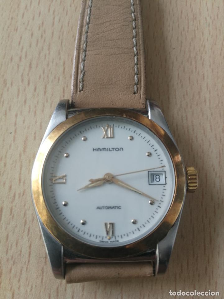 ANTIGUO RELOJ HAMILTON AUTOMATICO BISEL ORO 18 K. FUNCIONANDO Nº SERIE 891 SWIS MADE (Relojes - Relojes Automáticos)