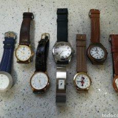 Relojes automáticos: RELOJES AUTOMÁTICOS CUARZO. DESCONOZCO SI FUNCIONAN. ESPECTACULAR LOTE.. Lote 203920055