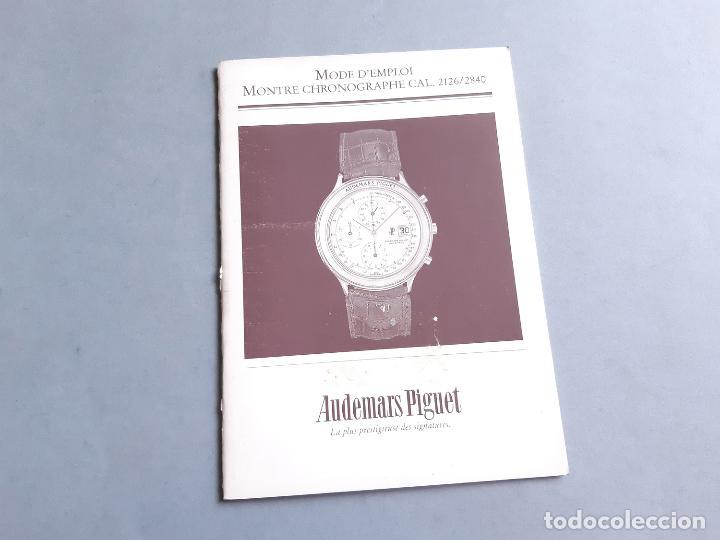 MANUAL DE INSTRUCCIONES DEL RELOJ AUDEMARS PIGUET CALIBRE 2126 2840. MODE EMPLOI MONTRE CHRONOGRAPHE (Relojes - Relojes Automáticos)