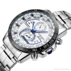 Relojes automáticos: RELOJ DE PULSERA CREATIVO PARA HOMBRE LONGBO, BLANCO. Lote 207251027