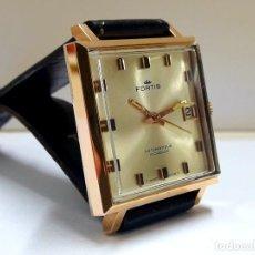 Relojes automáticos: ELEGANTE RELOJ CUADRADO MARCA FORTIS AUTOMÁTICO AÑOS 70. Lote 207269928
