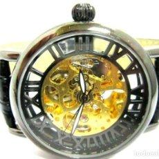 Relojes automáticos: PIERRE CH. - RELOJ DE PULSERA NEGRO PULSERA CUERO NEGRA . -NUEVO (AUTOM. Lote 209168038
