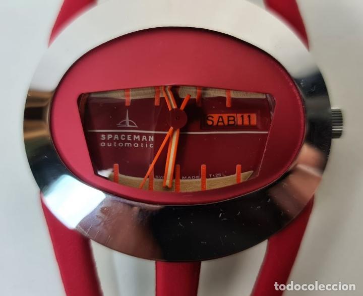Relojes automáticos: RELOJ SPACEMAN AUTOMATIC. WATERRESISTANT. INCABLOC. SUIZA. 1970 - Foto 4 - 210026901