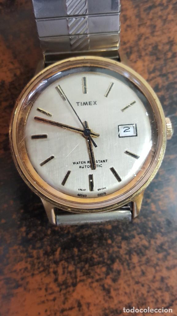 Relojes automáticos: RELOJ TIMEX AUTOMATICO - WATER RESISTANT. FUNCIONA CORRECTAMENTE. BUEN ESTADO. - Foto 2 - 210234150