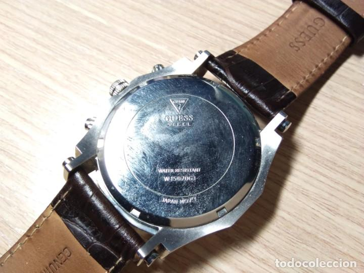 Relojes automáticos: RELOJ DE PULSERA DE CABALLERO. GUESS STEEL. JAPAN MOVT - Foto 2 - 210412326