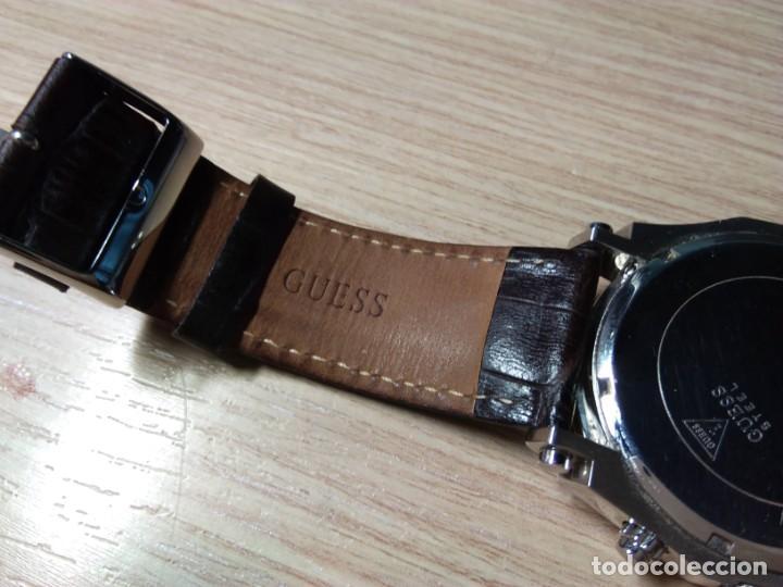 Relojes automáticos: RELOJ DE PULSERA DE CABALLERO. GUESS STEEL. JAPAN MOVT - Foto 3 - 210412326