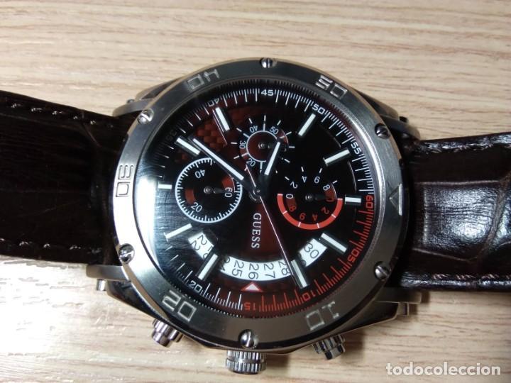 Relojes automáticos: RELOJ DE PULSERA DE CABALLERO. GUESS STEEL. JAPAN MOVT - Foto 5 - 210412326