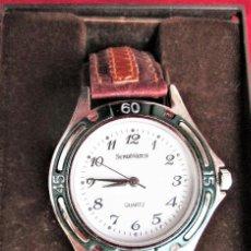Relojes automáticos: RELOJ DE PULSERA SUPERWATCH QUARTZ - FUNCIONANDO - SIN ESTRENAR, SIN RALLAR - CORREA DE PIEL. Lote 210549478