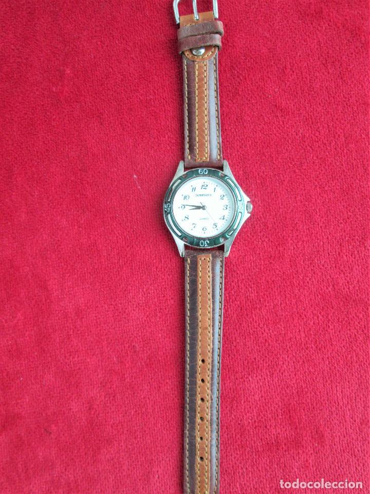 Relojes automáticos: RELOJ DE PULSERA SUPERWATCH QUARTZ - FUNCIONANDO - SIN ESTRENAR, SIN RALLAR - CORREA DE PIEL - Foto 4 - 210549478