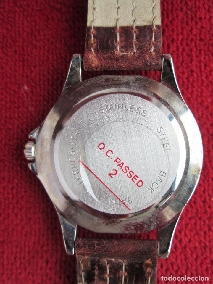 Relojes automáticos: RELOJ DE PULSERA SUPERWATCH QUARTZ - FUNCIONANDO - SIN ESTRENAR, SIN RALLAR - CORREA DE PIEL - Foto 8 - 210549478
