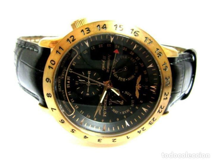 RELOJ AUTOMÁTICO PERIGAUM CRONOGRAFO DORADO RELOJ DE PULSERA CON NEGRO COLGANTE-PRODUCTOS NUEVOS (Relojes - Relojes Automáticos)