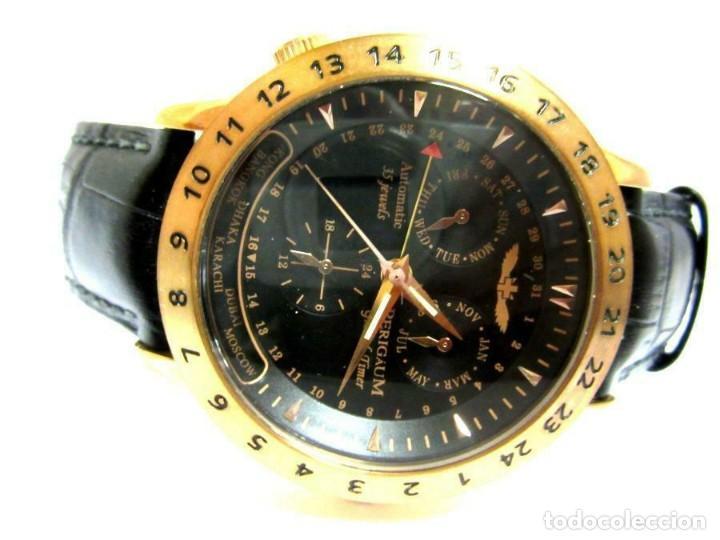 Relojes automáticos: RELOJ AUTOMÁTICO Perigaum CRONOGRAFO DORADO reloj de pulsera con negro colgante-productos nuevos - Foto 2 - 211658495