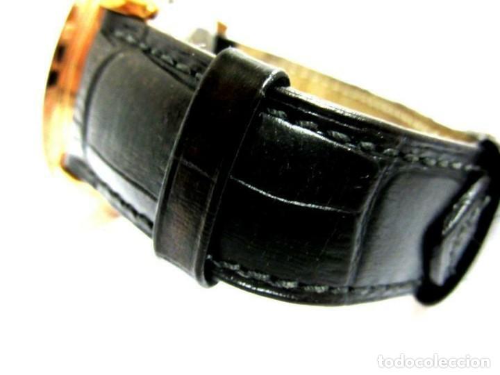 Relojes automáticos: RELOJ AUTOMÁTICO Perigaum CRONOGRAFO DORADO reloj de pulsera con negro colgante-productos nuevos - Foto 3 - 211658495