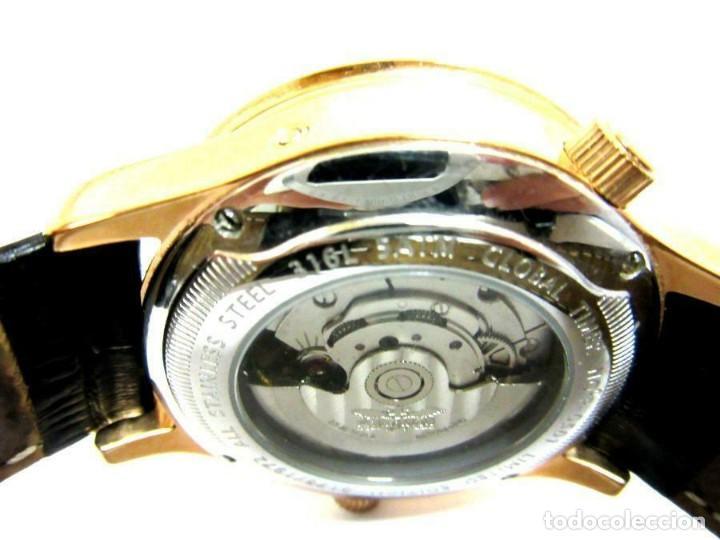 Relojes automáticos: RELOJ AUTOMÁTICO Perigaum CRONOGRAFO DORADO reloj de pulsera con negro colgante-productos nuevos - Foto 4 - 211658495