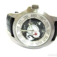 Relojes automáticos: TORPEDO-RELOJ AUTOMÁTICO DE PULSERA CORRE NEGRA HORARIO MUNDIAL-PRODUCTOS NUEVOS - VER FOTOS. Lote 211805656
