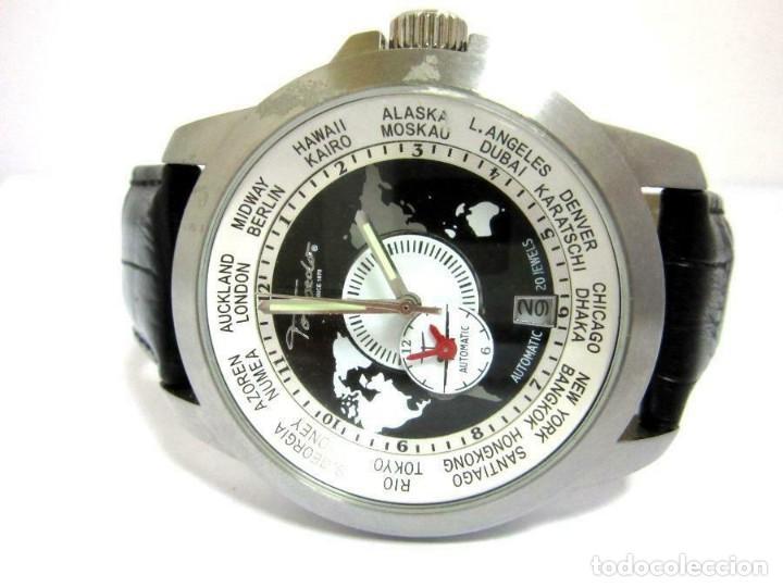 Relojes automáticos: Torpedo-reloj AUTOMÁTICO de pulsera CORRE NEGRA HORARIO MUNDIAL-productos nuevos - VER FOTOS - Foto 2 - 211805656