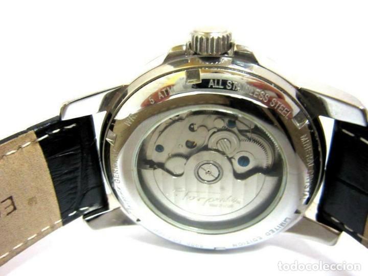 Relojes automáticos: Torpedo-reloj AUTOMÁTICO de pulsera CORRE NEGRA HORARIO MUNDIAL-productos nuevos - VER FOTOS - Foto 4 - 211805656