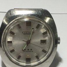 Relojes automáticos: RELOJ CITIZEN AUTOMÁTICO TRES ESTRELLAS MODELO 72-6079 21 JEWELS EN FUNCIONAMIENTO VINTAGE. Lote 211961578