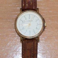 Relojes automáticos: RELOJ DUWARD QUARTZ DE SEÑORA CON CORREA DE PIEL, A RESTAURAR O PIEZAS DE RECAMBIO. Lote 212111143