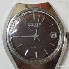 Relojes automáticos: RELOJ CABALLERO AUTOMÁTICO CITIZEN 21 JEWELS FUNCIONANDO. Lote 212864476