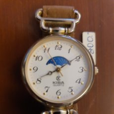 Relojes automáticos: RELOJ KIBA ANTIGUO QUARTZ FASE LUNAR NUEVO. Lote 213514700
