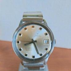 Relojes automáticos: RELOJ CABALLERO (VINTAGE) NACO AUTOPLANO AUTOMÁTICO CON CALENDARIO A LAS TRES, CORREA DE ACERO.. Lote 213716200