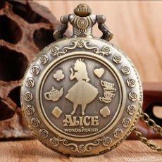 Relojes automáticos: RELOJ DE BOLSILLO ALICIA EN EL PAÍS DE LAS MARAVILLAS. ALICE IN WORDENLAND. VINTAGE. Lote 245761750