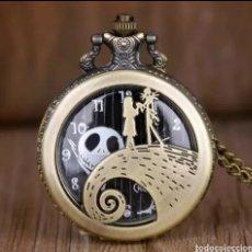 Relojes automáticos: RELOJ DE BOLSILLO JACK SKELLINGTON , SALLY. PESADILLA ANTES DE NAVIDAD. GÓTICO. Lote 214308440