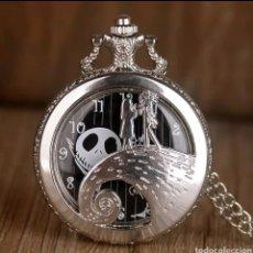 Relojes automáticos: RELOJ DE BOLSILLO JACK SKELLINGTON. SALLY. PESADILLA ANTES DE NAVIDAD. GÓTICO ESQUELETO CALAVERA. Lote 214309542