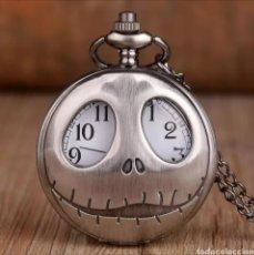 Relojes automáticos: RELOJ DE BOLSILLO JACK SKELLINGTON. PESADILLA ANTES DE NAVIDAD. GÓTICO CALAVERA. Lote 214309620