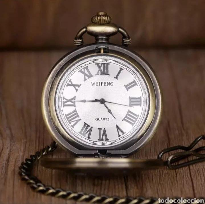Relojes automáticos: RELOJ DE BOLSILLO CON LEONTINA ROSTRO CIERVO. VENADO VINTAGE - Foto 2 - 214372028