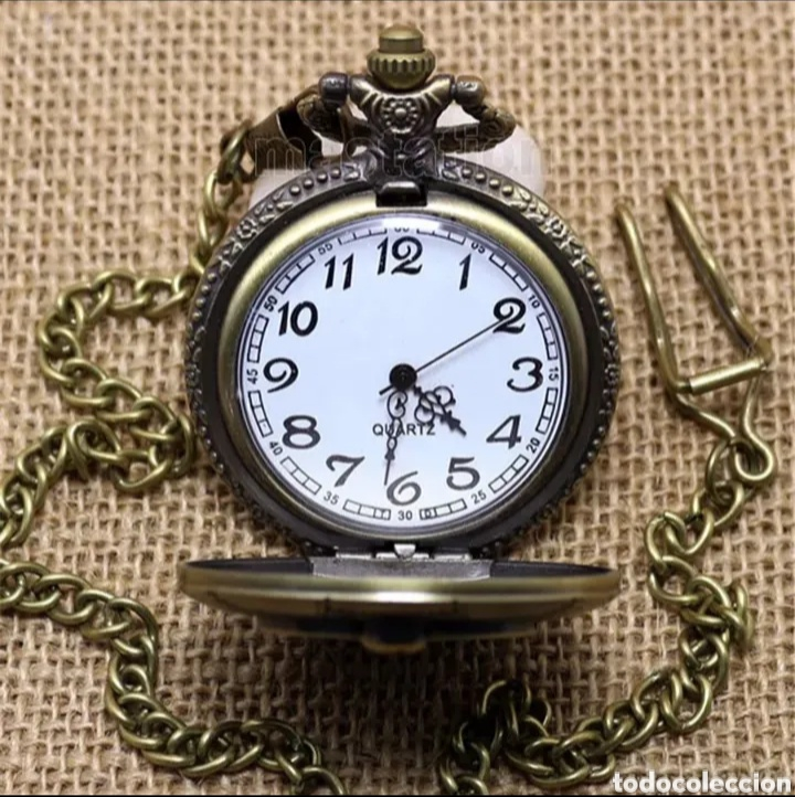 Relojes automáticos: RELOJ DE BOLSILLO CON LEONTINA PESCA FISHING. PEZ PESCADOR VINTAGE - Foto 2 - 214376196