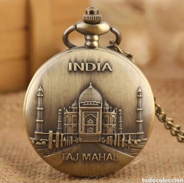 RELOJ DE BOLSILLO TAJ MAHAL. MONUMENTO INDIA VINTAGE (Relojes - Relojes Automáticos)