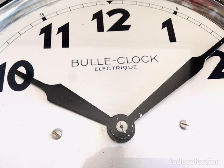 Relojes automáticos: BULLE-CLOCK OB84 RELOJ DE PARED INDUSTRIAL REDONDO DE MECANISMO ELÉCTRICO EN CAJA CROMADA - Foto 2 - 54600864