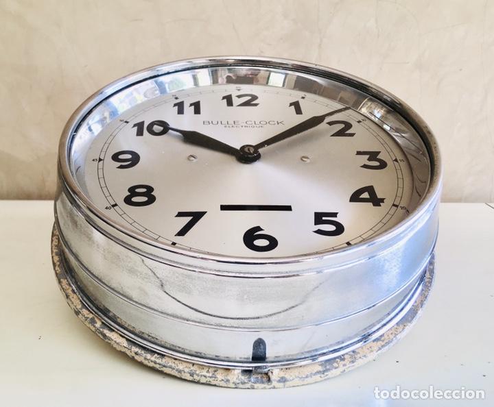 Relojes automáticos: BULLE-CLOCK OB84 RELOJ DE PARED INDUSTRIAL REDONDO DE MECANISMO ELÉCTRICO EN CAJA CROMADA - Foto 4 - 54600864