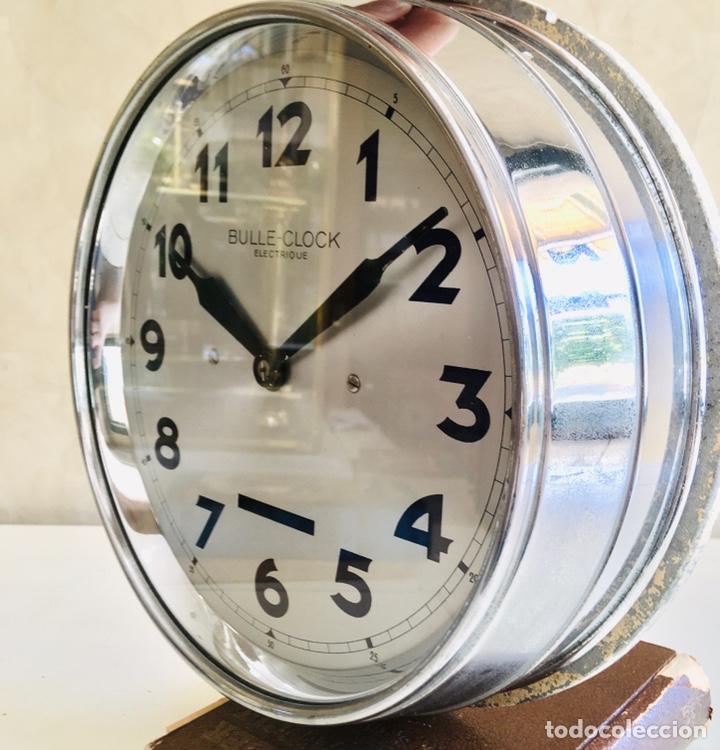 Relojes automáticos: BULLE-CLOCK OB84 RELOJ DE PARED INDUSTRIAL REDONDO DE MECANISMO ELÉCTRICO EN CAJA CROMADA - Foto 6 - 54600864