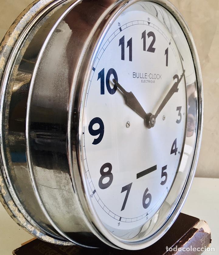 Relojes automáticos: BULLE-CLOCK OB84 RELOJ DE PARED INDUSTRIAL REDONDO DE MECANISMO ELÉCTRICO EN CAJA CROMADA - Foto 5 - 54600864