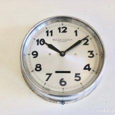 Relojes automáticos: BULLE-CLOCK OB84 RELOJ DE PARED INDUSTRIAL REDONDO DE MECANISMO ELÉCTRICO EN CAJA CROMADA. Lote 54600864