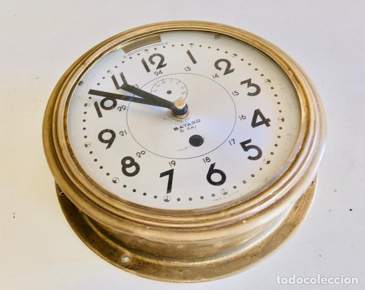 Relojes automáticos: RELOJ DE BARCO BAYARD 8 DAY CON MECANISMO ELÉCTRICO RELOJ DE PARED NAUTICO EN CAJA DE LATON - Foto 3 - 215778616