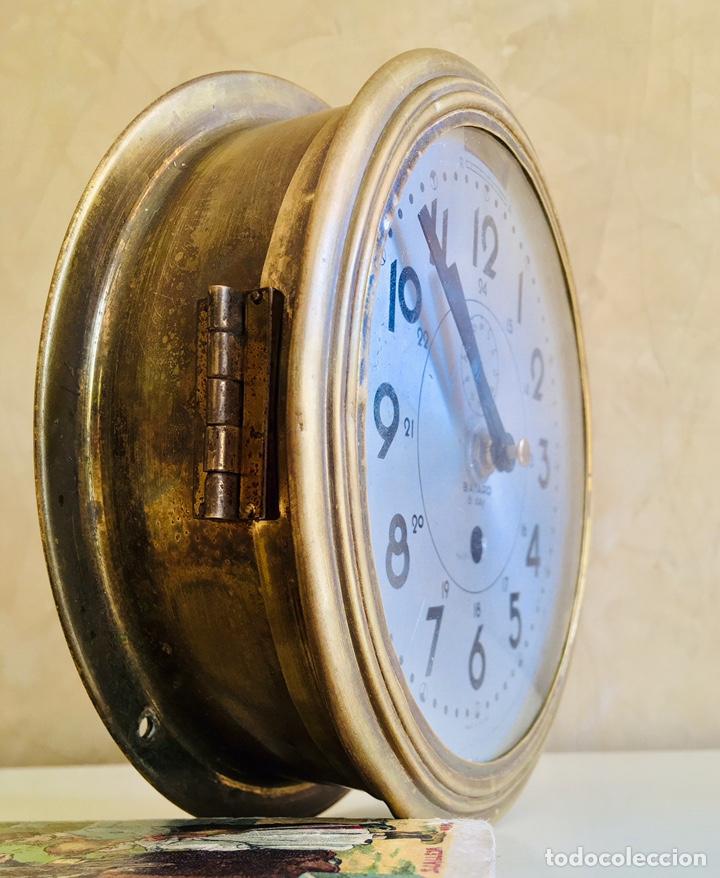 Relojes automáticos: RELOJ DE BARCO BAYARD 8 DAY CON MECANISMO ELÉCTRICO RELOJ DE PARED NAUTICO EN CAJA DE LATON - Foto 6 - 215778616