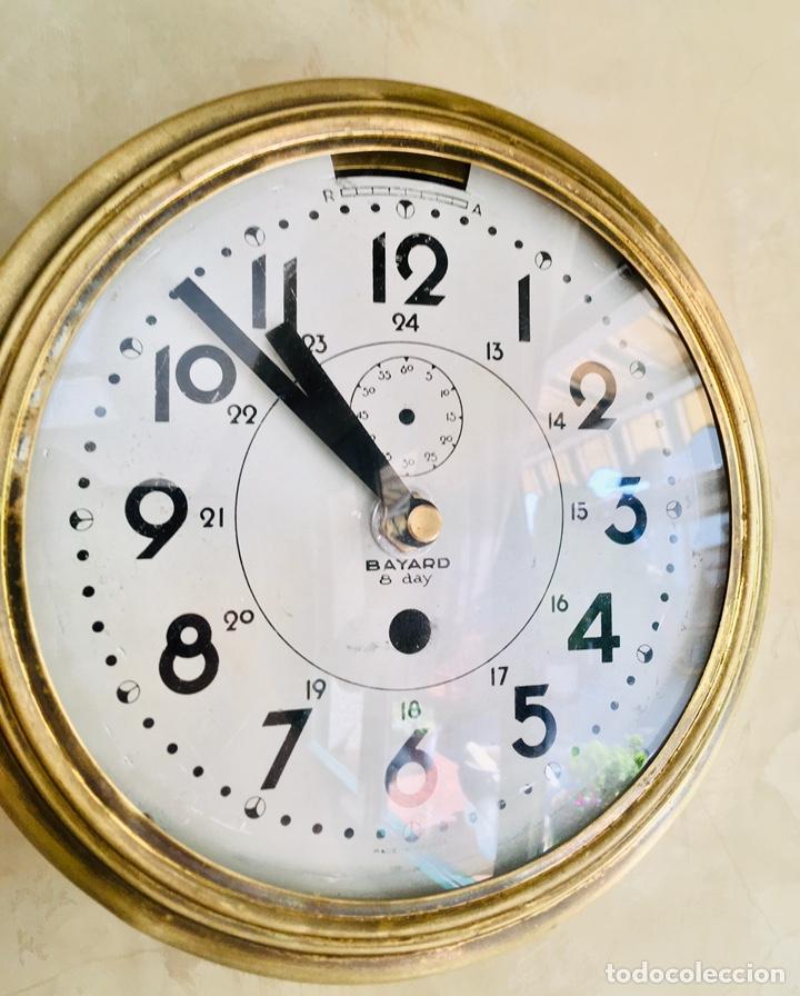 Relojes automáticos: RELOJ DE BARCO BAYARD 8 DAY CON MECANISMO ELÉCTRICO RELOJ DE PARED NAUTICO EN CAJA DE LATON - Foto 10 - 215778616