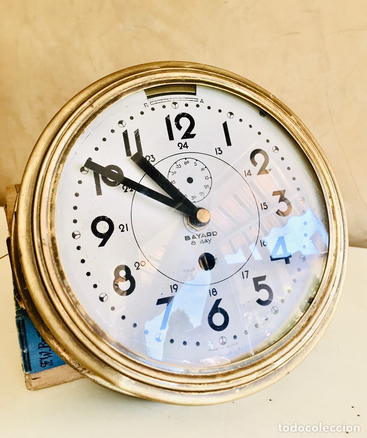 RELOJ DE BARCO BAYARD 8 DAY CON MECANISMO ELÉCTRICO RELOJ DE PARED NAUTICO EN CAJA DE LATON (Relojes - Relojes Automáticos)