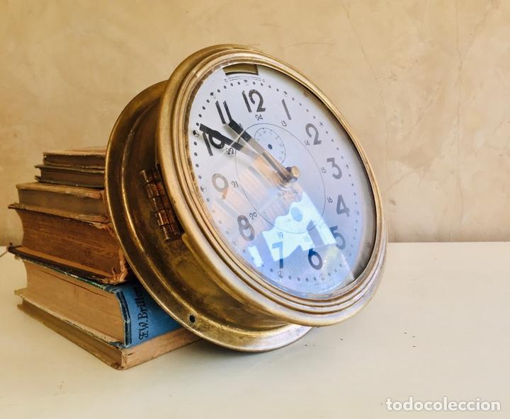 Relojes automáticos: RELOJ DE BARCO BAYARD 8 DAY CON MECANISMO ELÉCTRICO RELOJ DE PARED NAUTICO EN CAJA DE LATON - Foto 11 - 215778616