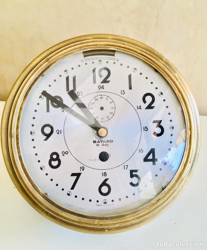 Relojes automáticos: RELOJ DE BARCO BAYARD 8 DAY CON MECANISMO ELÉCTRICO RELOJ DE PARED NAUTICO EN CAJA DE LATON - Foto 2 - 215778616