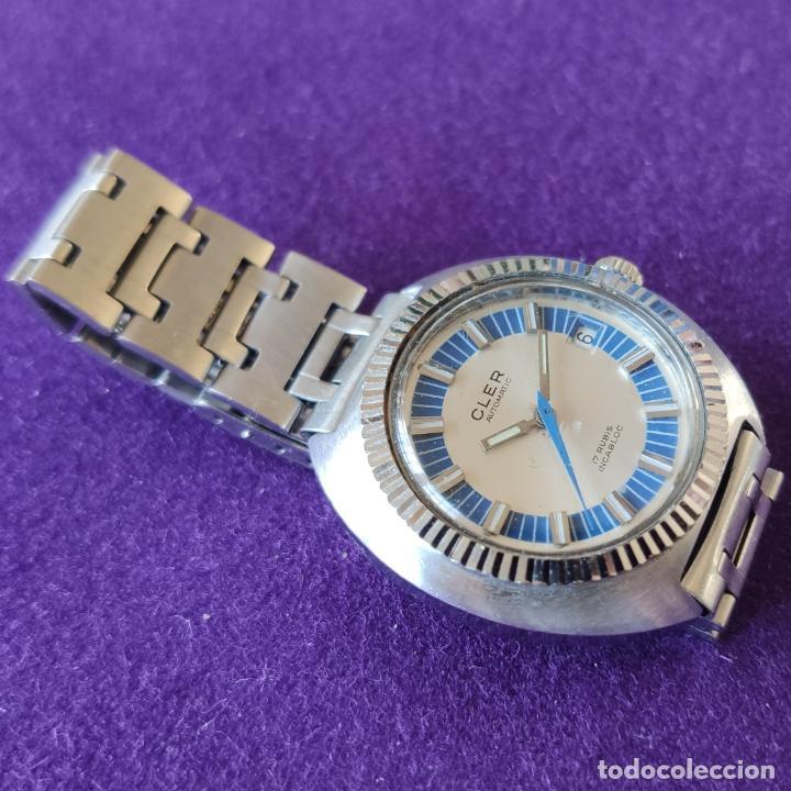 Relojes automáticos: ANTIGUO RELOJ DE PULSERA CLER. SWISS. CARGA AUTOMATICA.EN FUNCIONAMIENTO.AÑOS 60.CABALLERO - Foto 3 - 216578963