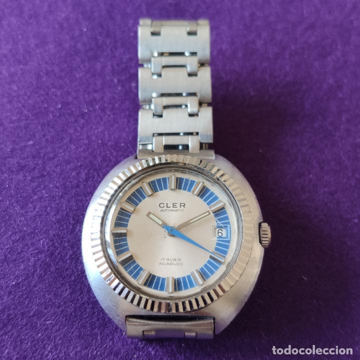 ANTIGUO RELOJ DE PULSERA CLER. SWISS. CARGA AUTOMATICA.EN FUNCIONAMIENTO.AÑOS 60.CABALLERO (Relojes - Relojes Automáticos)