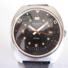 Relojes automáticos: AQUASTAR SEATIME DE BUCEO - AÑOS 70 - TAMAÑO GRANDE - TODO ORIGINAL. Lote 216676435